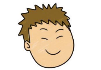 4.嘴巴张开,眉毛弯弯,是表现喜悦,大笑时常用的手法.图片
