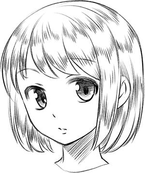 铅笔画可爱动漫人物_简单动漫人物铅笔画